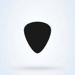 Guitar pic Simple vector modern icon design illustration.