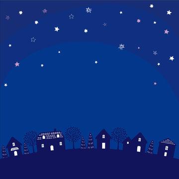 夜 風景 イラスト