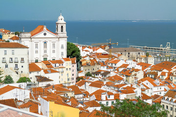 Panoramic view of the Lisbon, Portugal