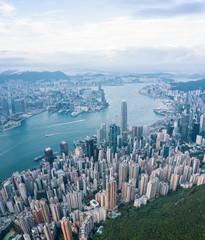 Wall Mural - Hong Kong Victoria Harbor at daytime