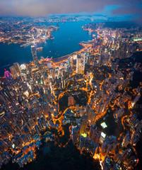 Wall Mural - Hong Kong Victoria Harbor night view