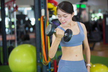 f98f1534b4111b Beautiful Asia women are exercising in the gym. Gym concept