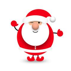 Obraz Święty Mikołaj. Ilustracja wektorowa - fototapety do salonu