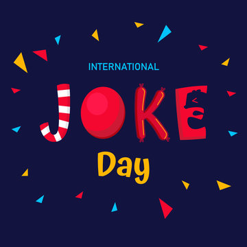 International Joke day vector   background or graphic  banner