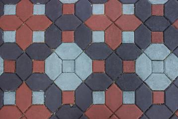 Top view garden brick pathway texture