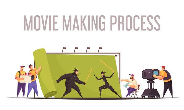 Cinema Movie Crew Composition