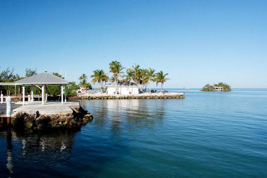 USA. Florida. The Keys. Marathon Island. The sea and the coast from the marina.