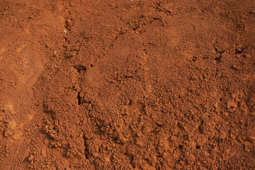 Abstract rough red soil texture  Fototapete