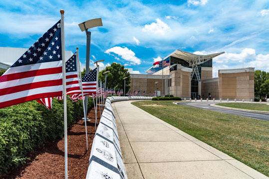Field Of Honor at the Airborne and Special Operations Museum in Fayetteville, NC