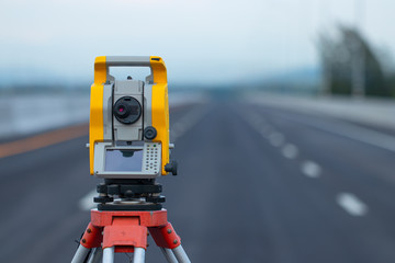 Theodolite in construction,Land surveying and construction equipment, Survey equipment in construction