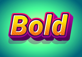 3D Friendly Cartoon Text Effect