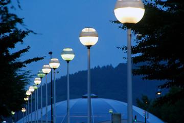 Lanterns in a park Fotomurales