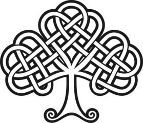 Shamrock. Celtic Tattoo. Vector