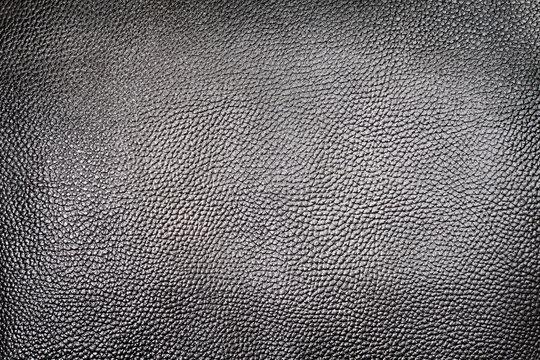 Dark silver leather background texture