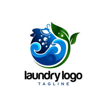 Laundry Logo Images Stock Vector