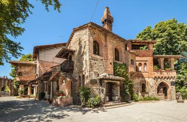 Grazzano Visconti village in Italy. Fototapete