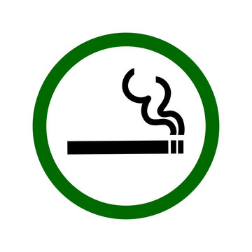 smoking permitted Sign. vector illustration