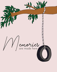 memories are made here tire swing