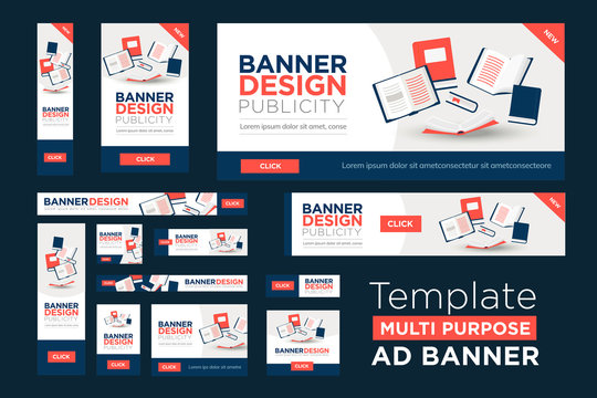 Web Banner Template in multiple sizes
