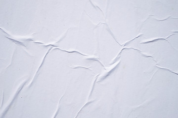 White creased poster texture. Abstract background. Wall mural