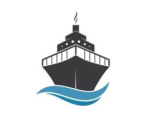 cruise ship Logo Template vector icon illustration
