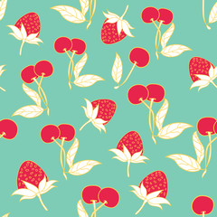 Modern summer fruits seamless pattern design summer wine collection