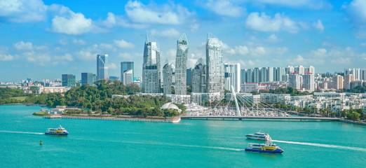 The beautiful blue sky of Singapore. Fototapete