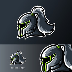Knight kingdom sport or esport gaming mascot logo template