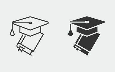 Education vector icon for graphic and web design.