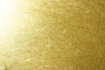 金色の和紙による背景素材(クローズアップ)