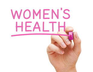 Womens Health Handwritten With Pink Marker