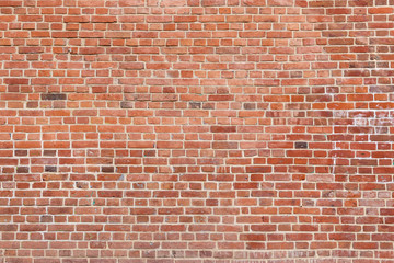 Fotobehang - Old red brick wall background. Panoramic wide texture