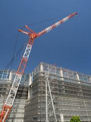 Fototapete - 大型マンションの建設現場