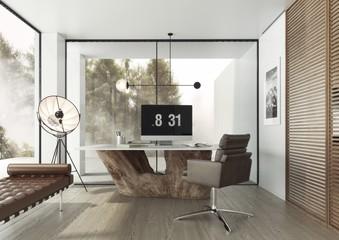 Gabinet w zaprojektowany w nowoczesnym minimalistycznym stylu.
