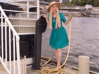 Girl on the boat