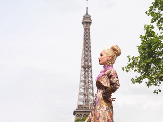 Girl with the Eiffel Tower