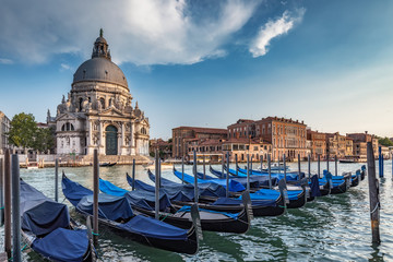 Fototapete - Basilica di Santa Maria della Salute in Venice, Italy. Scenic travel background.