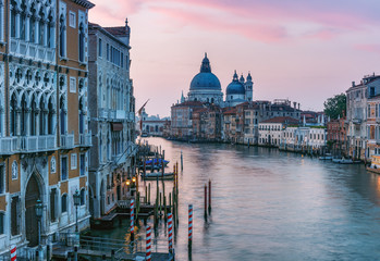 Fototapete - Architecture of Venice, Italy at sunrise. Scenic travel background.