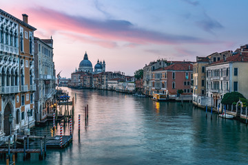 Wall Mural - Architecture of Venice, Italy at sunrise. Travel background.
