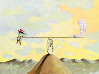 lightness of the reade surrealism illustration