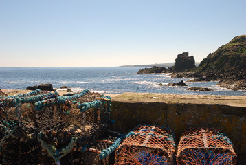 view south from harbour at St. Abbs, Berwickshire