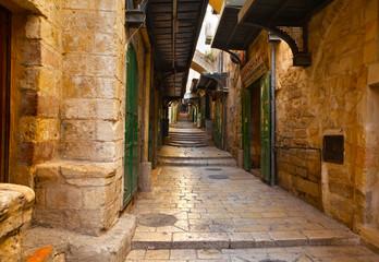 Photo sur Plexiglas Ruelle etroite Old town, Jerusalem
