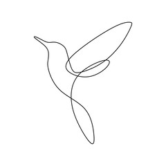Foto op Plexiglas One Line Art Bird continuous line drawing vector illustration minimalist design good for logo branding and abstract minimalism poster
