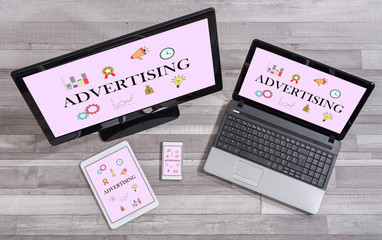 Advertising concept on different devices