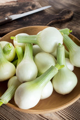 White young onion.
