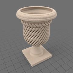 Stone garden urn 2