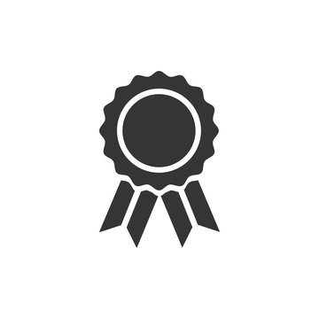 Medal icon template black color editable. Medal symbol vector sign isolated on white background. Simple logo vector illustration for graphic and web design.