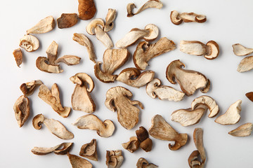 dried white mushroom sliced ​​into slices