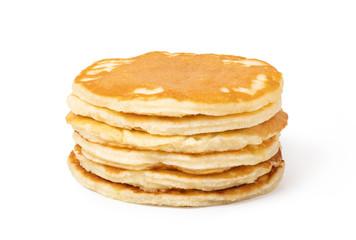 pancakes on a white