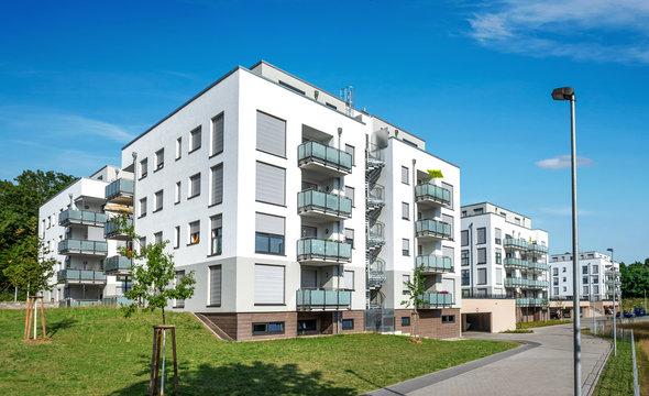 Moderne Appartementgebäude Neubau Wohngebäude